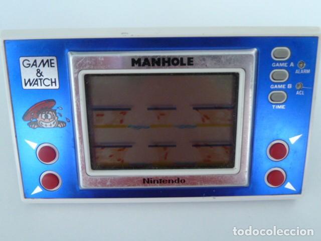 Videojuegos y Consolas: MAQUINA GAME WATCH MANHOLE DE NINTENDO MODELO NH-103 AÑO 1983 - Foto 2 - 87088752