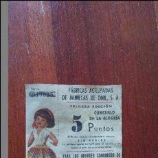 Videojuegos y Consolas: FOLLETO DE LA 1 EDICIÓN DEL CONCURSO DE LA ALEGRIA DE FAMOSA NUMERADO. Lote 88513584