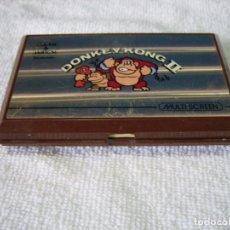 Videojuegos y Consolas: GAME & WATCH DE NINTENDO DONKEY KONG II 1983. CUBIERTA PEGADA POR ROTURA. FUNCIONA. Lote 157888449