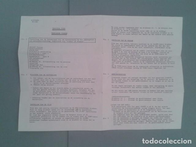 NINTENDO GAME&WATCH TROPICAL FISH TF-104 ORIGINAL DUTCH INSTRUCTION MANUAL RARE+ R6449 (Juguetes - Videojuegos y Consolas - Otros descatalogados)