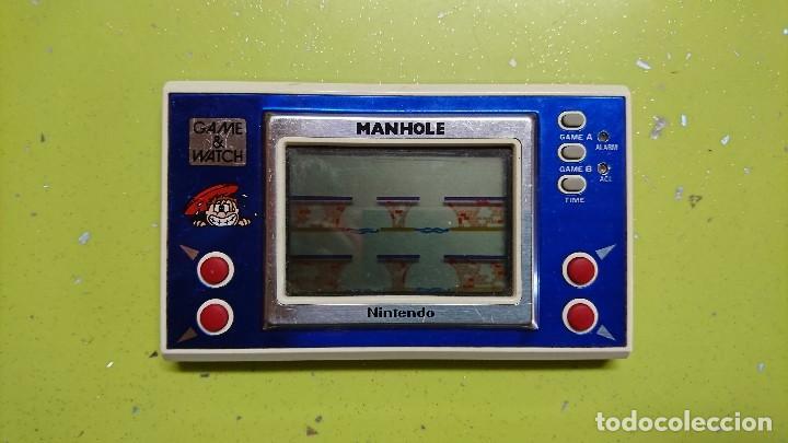 CONSOLA, GAME&WATCH MANHOLE, NINTENDO (Juguetes - Videojuegos y Consolas - Otros descatalogados)