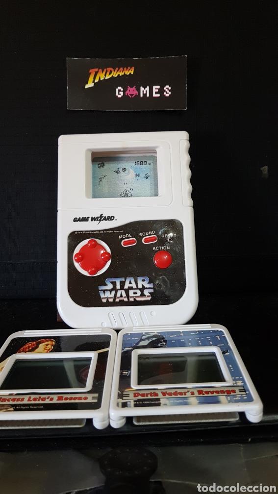 ARCADE LCD GAME WIZARD 1995 STAR WARS HANDHELD + 2 JUEGOS (Juguetes - Videojuegos y Consolas - Otros descatalogados)