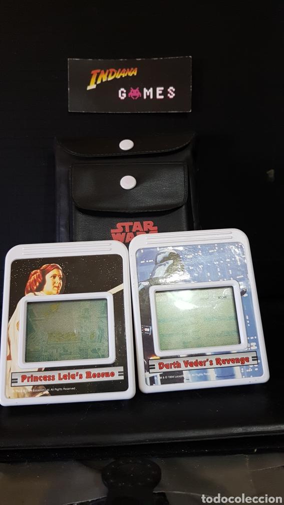 Videojuegos y Consolas: ARCADE LCD GAME WIZARD 1995 STAR WARS HANDHELD + 2 JUEGOS - Foto 3 - 95293604