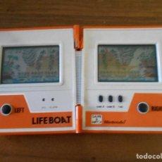 Videojuegos y Consolas: NINTENDO GAME & WATCH LIFEBOAT MULTI SCREEN GAME LIFE BOAT PERFECTO FUNCIONAMIENTO 1983. Lote 95310655