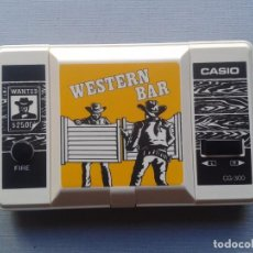 Videojuegos y Consolas: CASIO GAME&WATCH WESTERN BAR CG-300 VERY GOOD CONDITION FULL WORKING SEE!! R6520. Lote 95727371