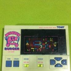 Videojuegos y Consolas: MAQUINITA TIPO GAME WATCH DE TOMY BURGER MONSTER LASER COLOR, NINTENDO, BANDAI, SEGA,ELECTRONIC GAME. Lote 96352418