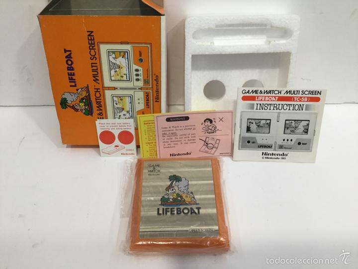 LIFE BOAT NINTENDO GAME & WATCH MULTI SCREEN TC-58 1983 (Juguetes - Videojuegos y Consolas - Otros descatalogados)