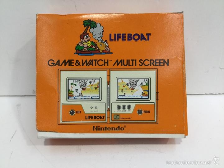 Videojuegos y Consolas: Life Boat Nintendo Game & Watch Multi Screen TC-58 1983 - Foto 6 - 97688083