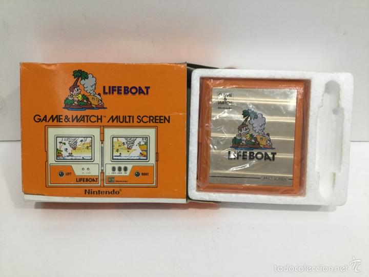 Videojuegos y Consolas: Life Boat Nintendo Game & Watch Multi Screen TC-58 1983 - Foto 7 - 97688083