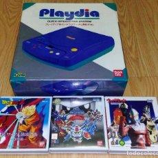 Videojuegos y Consolas: BANDAI PLAYDIA (CONSOLA JAPONESA NTSC QUE FUNCIONA A 110 V -TRANSFORMADOR NO INCLUIDO-) + 3 JUEGOS. Lote 97895019