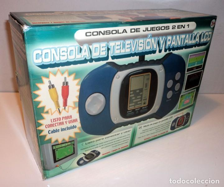 CONSOLA DE TV Y PANTALLA LCD. 2 EN 1. JUEGOS CLÁSICOS. RETRO. ARCADE. (Juguetes - Videojuegos y Consolas - Otros descatalogados)