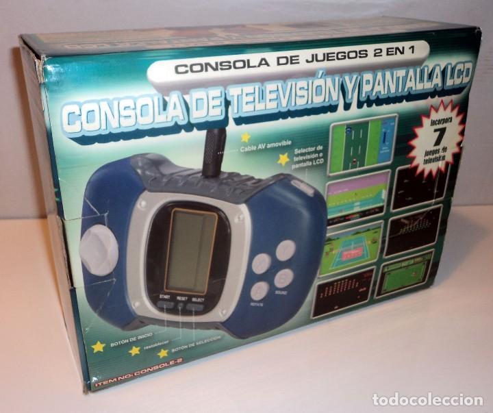 Videojuegos y Consolas: Consola de TV y pantalla LCD. 2 en 1. Juegos clásicos. Retro. Arcade. - Foto 2 - 98230071