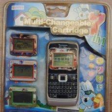 Videojuegos y Consolas: JUEGO ELECTRONICO MULTI-CHANGEABLE CARTRIDGE - CONSOLA & 7 JUEGOS . Lote 98481675