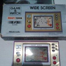 Videojuegos y Consolas: SNOOPY TENNIS GAME WATCH NINTENDO EN CAJA FUNCIONANDO. Lote 99852543