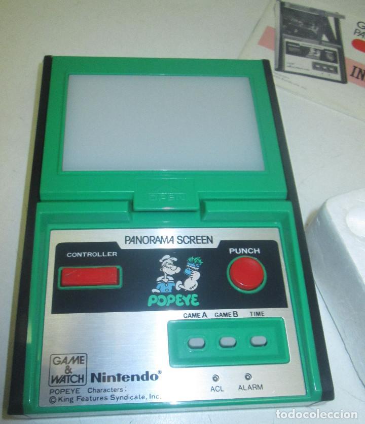 Videojuegos y Consolas: NINTENDO GAME & WATCH PANORAMA SCREEN, POPEYE, con caja e instrucciones, todo original, PG-92 - Foto 2 - 101653243
