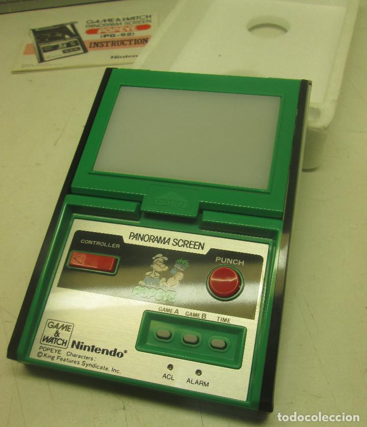 Videojuegos y Consolas: NINTENDO GAME & WATCH PANORAMA SCREEN, POPEYE, con caja e instrucciones, todo original, PG-92 - Foto 5 - 101653243