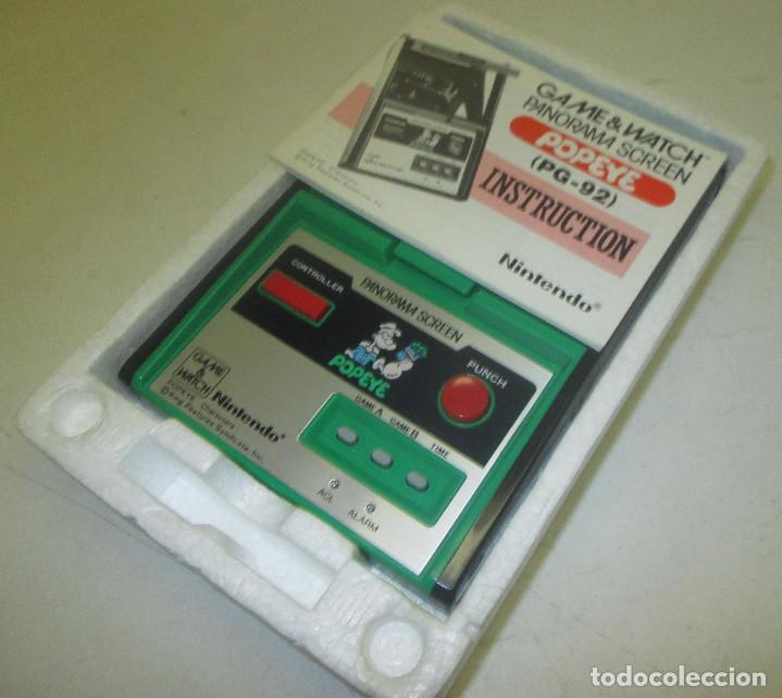 Videojuegos y Consolas: NINTENDO GAME & WATCH PANORAMA SCREEN, POPEYE, con caja e instrucciones, todo original, PG-92 - Foto 9 - 101653243