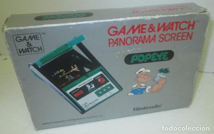 Videojuegos y Consolas: NINTENDO GAME & WATCH PANORAMA SCREEN, POPEYE, con caja e instrucciones, todo original, PG-92 - Foto 10 - 101653243