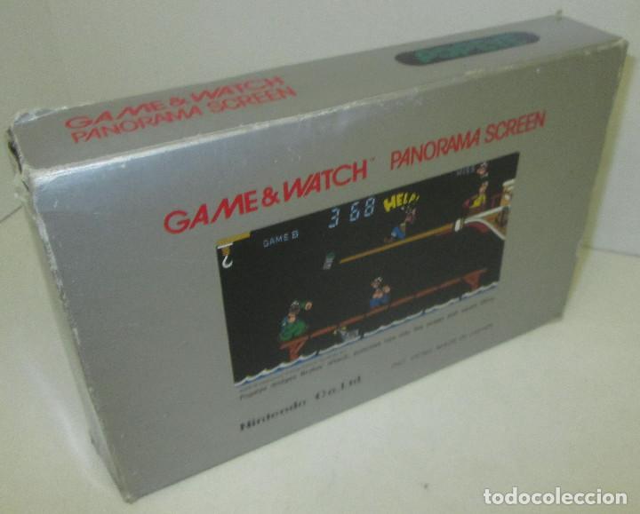 Videojuegos y Consolas: NINTENDO GAME & WATCH PANORAMA SCREEN, POPEYE, con caja e instrucciones, todo original, PG-92 - Foto 11 - 101653243
