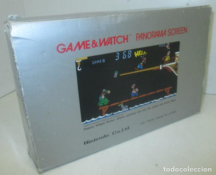 Videojuegos y Consolas: NINTENDO GAME & WATCH PANORAMA SCREEN, POPEYE, con caja e instrucciones, todo original, PG-92 - Foto 12 - 101653243