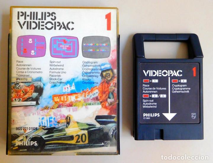 PHILIPS VIDEOPAC Nº 1 RACE - SPIN-OUT - CRYPTOGRAM (Juguetes - Videojuegos y Consolas - Otros descatalogados)