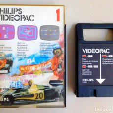 Videojuegos y Consolas: PHILIPS VIDEOPAC Nº 1 RACE - SPIN-OUT - CRYPTOGRAM. Lote 103296991