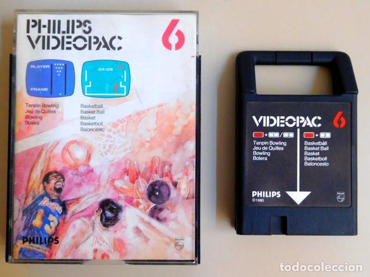 PHILIPS VIDEOPAC Nº 6 TENPIN-BOWLING - BASKETBALL (Juguetes - Videojuegos y Consolas - Otros descatalogados)