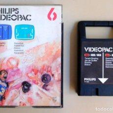 Videojuegos y Consolas: PHILIPS VIDEOPAC Nº 6 TENPIN-BOWLING - BASKETBALL. Lote 103297179