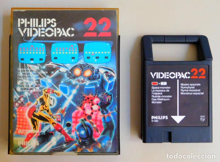 Videojuegos y Consolas: PHILIPS VIDEOPAC Nº 22 SPACE MONSTER - Foto 1 - 103297651