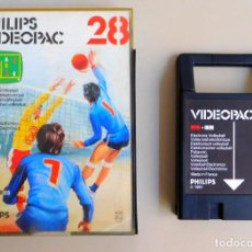 Videojuegos y Consolas: PHILIPS VIDEOPAC Nº 28 ELECTRONIC VOLLEYBALL. Lote 103298575