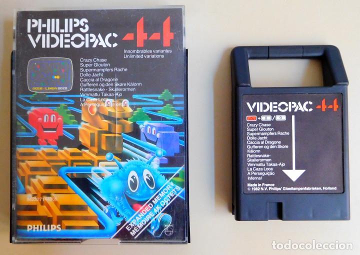 PHILIPS VIDEOPAC Nº 44 CRAZY CHASE (Juguetes - Videojuegos y Consolas - Otros descatalogados)