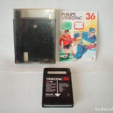 Videojuegos y Consolas: JUEGO PARA PHILIPS G7000 VIDEOPAC Nº 36 -FUTBOL Y HOCKEY SOBRE HIELO - COMPLETO. Lote 106749799