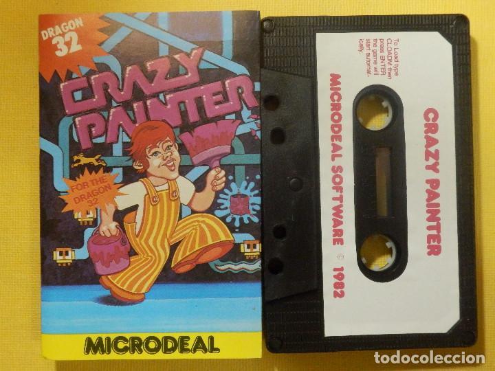 JUEGO PARA DRAGON 32 - CRAZY PAINTER - MICRODEAL - 1982 (Juguetes - Videojuegos y Consolas - Otros descatalogados)