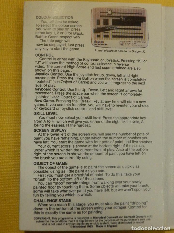 Videojuegos y Consolas: JUEGO PARA DRAGON 32 - CRAZY PAINTER - MICRODEAL - 1982 - Foto 2 - 106855955