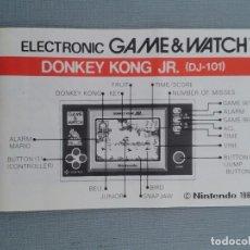 Videojuegos y Consolas: NINTENDO GAME&WATCH WIDESCREEN DONKEY KONG JR. DJ-101 ENGLISH INSTRUCTION MANUAL R6845. Lote 107512151
