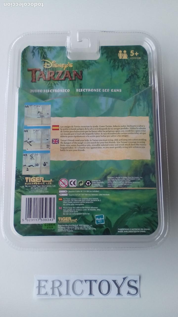 Videojuegos y Consolas: Juego electrónico LCD Tarzan Disney - Tiger Hasbro Año 1999 - Erictoys - Foto 2 - 187213918