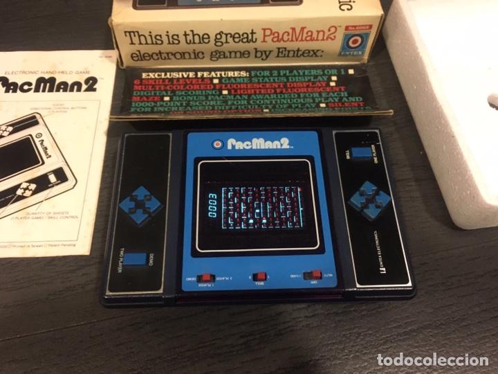 Videojuegos y Consolas: Maquinita table top entex pac man 2 - Foto 5 - 111192202