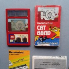 Videojuegos y Consolas: CASIO GAME & WATCH CAT HAND CG-32 COMPLETE IN BOX CIB VERY GOOD CONDITION SEE!! R7089. Lote 111323823