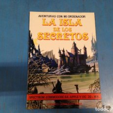Videojogos e Consolas: RARO LIBRO AVENTURAS CON MI ORDENADOR LA ISLA DE LOS SECRETOS PARA SPECTRUM, MSX, ETC. Lote 111704915