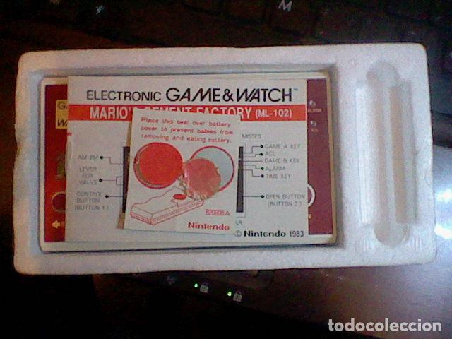 Videojuegos y Consolas: CONSOLA GAME & WATCH NINTENDO MARIO´S CEMENT FACTORY FUNCIONANDO M B E CAJA INSTRUCCIONES - Foto 9 - 111896579
