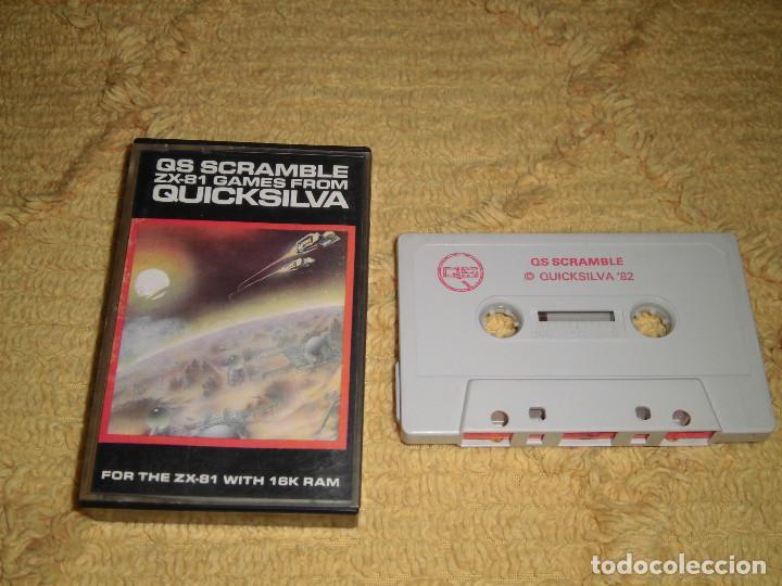 SINCLAIR ZX 81 - QS SCRAMBLE (QUICKSILVA, 1982) - ZX81, ZX SPECTRUM (Juguetes - Videojuegos y Consolas - Otros descatalogados)