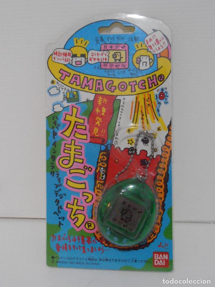 TAMAGOTCHI COLOR VERDE TRANSPARENTE, BLISTER ORIGINAL BANDAI, IMPORTADO DE JAPON 1997 (Juguetes - Videojuegos y Consolas - Otros descatalogados)