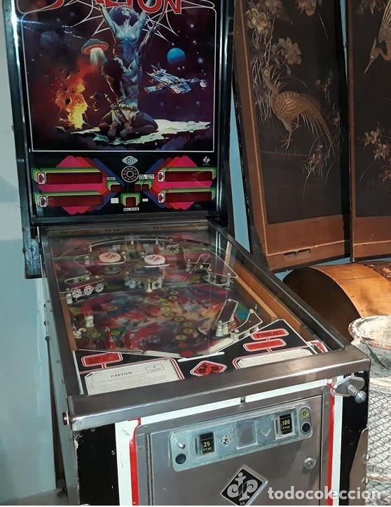 Videojuegos y Consolas: Pinball FAETON de Juegos Populares.PETACO Año fabricación 1985. 4 jugadores. 1 bola. 2 flippers - Foto 5 - 121041519
