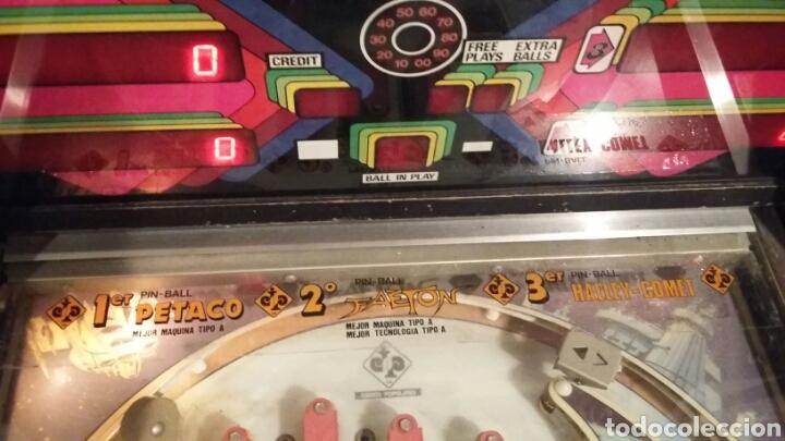 Videojuegos y Consolas: Pinball FAETON de Juegos Populares.PETACO Año fabricación 1985. 4 jugadores. 1 bola. 2 flippers - Foto 7 - 121041519