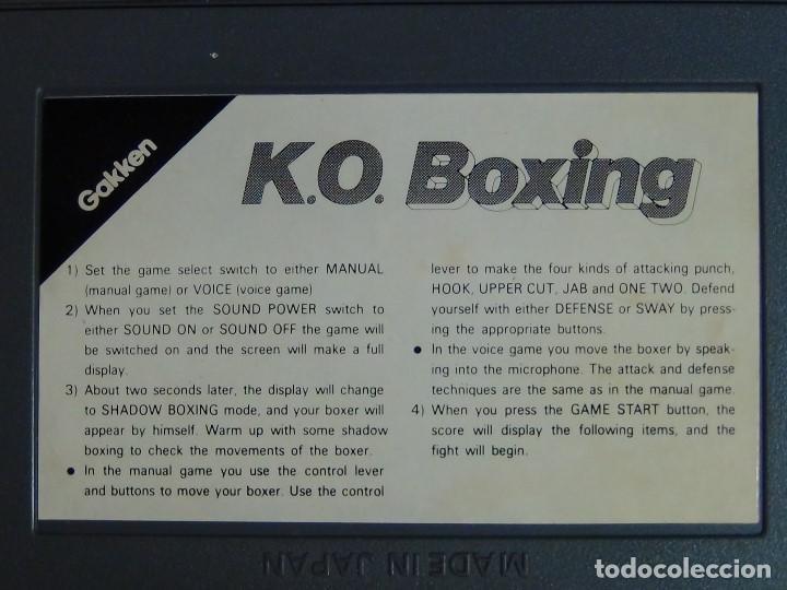 Videojuegos y Consolas: K.O. BOXING DE GAKKEN - MADE IN JAPAN - JUEGO LCD - Ver Video - Foto 8 - 123121659