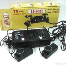 Videojuegos y Consolas: ANTIGUA CONSOLA TV TEMCO T-800 ¡¡PROBADA Y FUNCIONANDO¡¡ VIDEOJUEGO TENIS SQUASH HOCK T800-COMPLETA. Lote 124484739