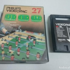 Videojuegos y Consolas: PHILIPS VIDEOPAC 27 ELECTRONIC TABLE FOOTBALL. Lote 126018943
