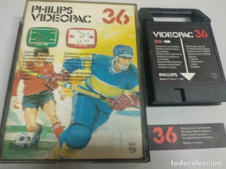 PHILIPS VIDEOPAC 36 ELECTRONIC SOCCER ELECTRONIC ICE HOCKEY (Juguetes - Videojuegos y Consolas - Otros descatalogados)