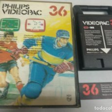 Videojuegos y Consolas: PHILIPS VIDEOPAC 36 ELECTRONIC SOCCER ELECTRONIC ICE HOCKEY. Lote 126019051