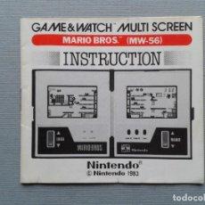 Videojuegos y Consolas: NINTENDO GAME&WATCH MARIO BROS MW-56 ORIGINAL INSTRUCTION MANUAL GOOD CONDITION R7735. Lote 126586311